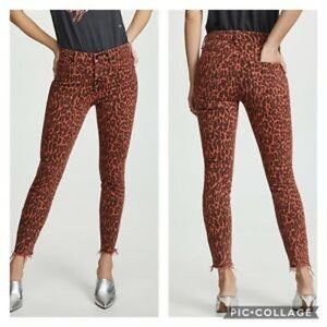 MOTHER BNWT ankle fray jeans high waist animal